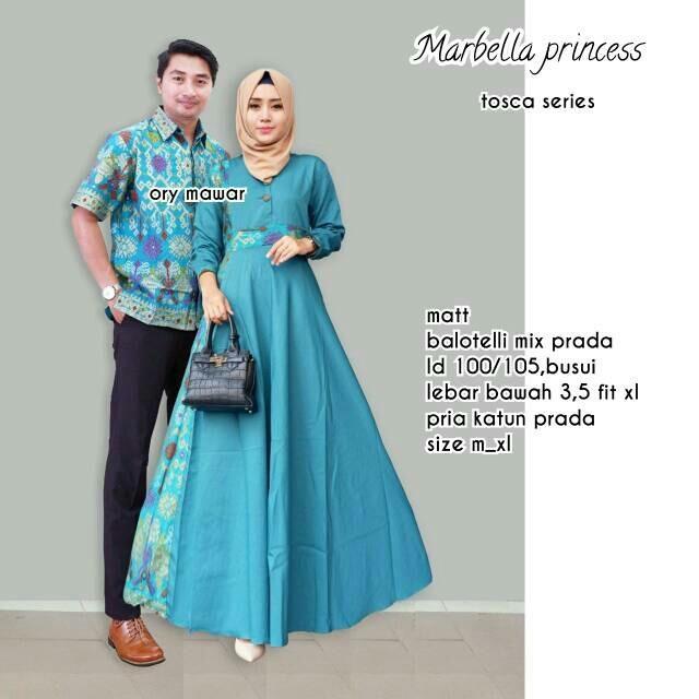 Suki Couple Batik Cewe Cowo Asmiranda - Coklat Batik Couple / Couple Batik / Batik Sarimbit Marbella Princess Couple