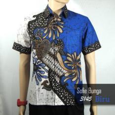 Batik Sofie 3145 Kemeja Hem Batik Pria Motif Bunga Sofie