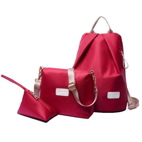 Best 3in1 Ransel Backpack Kuliah Bag Korean Fashion Women Handbags Shoulder Bags