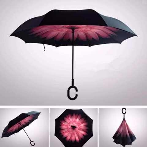 Home; BEST Payung Terbalik Gagang C Reverse Umbrella Payung Lipat / Mobil - 01 PINK