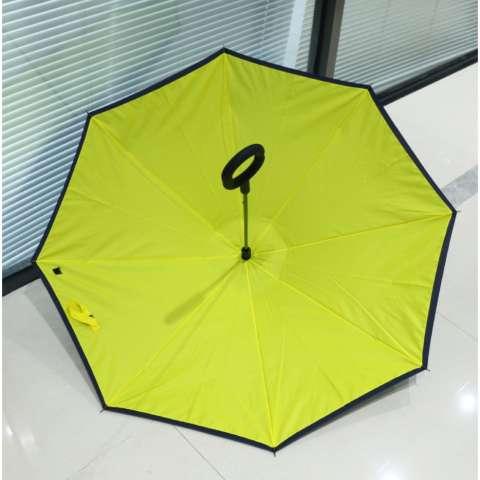 BEST Payung Terbalik KAZBRELLA 01 Gagang C Reverse Umbrella Payung Lipat / Mobil - KUNING
