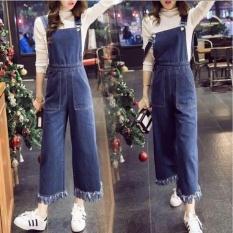 [BEST SELLER] UC Overall Kulot Denim / Jumpsuit Jeans Wanita Premium / Baju Jamsuit Celana Kodok / Setelan (ritana lotku) VC - BIRU TUA - Setelan Wanita /Jamsuit / Jamsuit Wanita / Celana Panjang / Celana Kodok / Baju Kodok D2C
