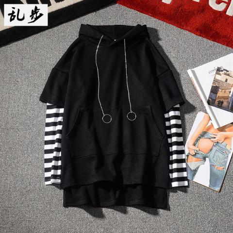 Bf korea musim gugur pullover berkerudung t-shirt (613 bergaris Lengan sweater putih) OE427FAAAQB4BYANID-57503275. Category : Fashion Fashion Pria ...