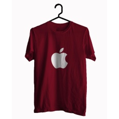 BKSPC - Kaos / T-shirt  Apple - Pria dan Wanita - Merah Maroon