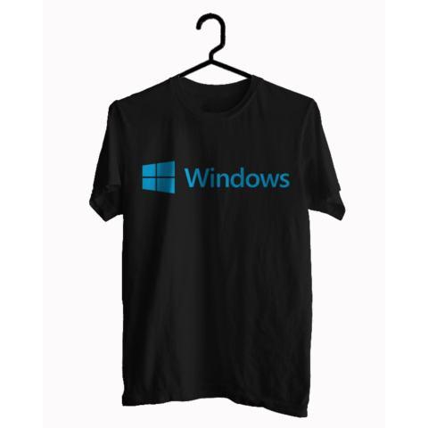 BKSPC - Kaos / T-shirt Windows - Pria dan Wanita - Biru Dongker