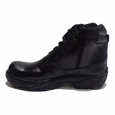 Black Shoes A8 Sepatu Safety Boot Kulit Pria [ Hitam ]