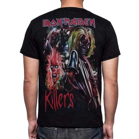 ... Blacklabel Kaos Hitam BL IRON MAIDEN 47 T Shirt Rock Star Metal Band Gothic