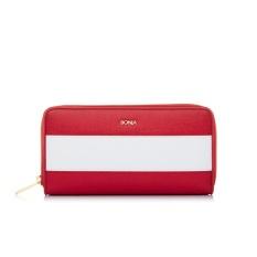 Bonia Red The Line Zipper Wallet