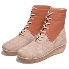 Bsm soga BDA 801 Sepatu Boots Casual Wanita-Sintetis-elegan terbaru 2017 (Cream)