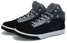 BSM Soga BLG 219 Sepatu Kasual/ Kets/ Sekolah/ Sport Pria Suede - Keren - Hitam Kombinasi