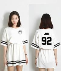 BTS Junior Tim Pendek Lengan Dress 2017 New White?? JIN??-Intl