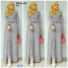 Busana Muslim/ Maxi Dress/ Setelan Muslin/ Set Alexa Long