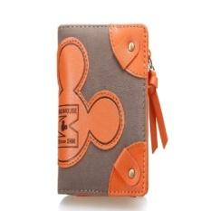 Ca Qq Mouse Design Decor Purse Wallt Small for Ladies Ash rose