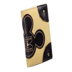 Ca Qq Mouse Design Decor Purse Wallt Small For Ladies Brown Orange