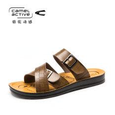 Camel Active Kulit Pria Sandal Pria Harian Sepatu Santai (Coklat Muda)