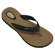 CARVIL -LADIES SANDAL SPONGE PANERA BLACK/BEIGE
