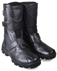 CBR SIX BSC 768 Sepatu Country/ Biker boots - Kulit asli - Gagah - Hitam
