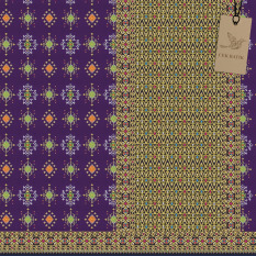 Cek Batik - Sarung Songket Etnik Cantik Kombinasi Warna Motif (UNGU , Hijau, Kuning, Putih Tulang, Orange, Merah, Hitam, Pink ) Berlapis Gold