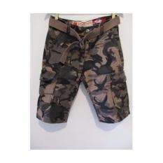 Celana cargo pendek loreng/army import