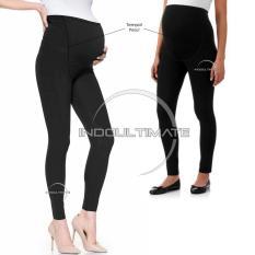 Celana Panjang Hamil 2 PCS Black & Light Black / Leging Hamil LG-01