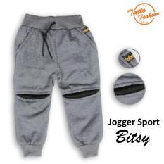 Celana Sport Joger Anak Bitsy Warna Abu Tua