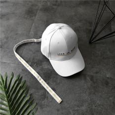 Topi Baseball Model Sama Logam Catok Tali Topi Model Biasa Hip Hop (Kurang dari tali panjang model-Putih)