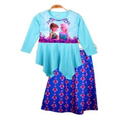 Chloe's Clozette Dress Gamis Frozen - DM 02 - Biru