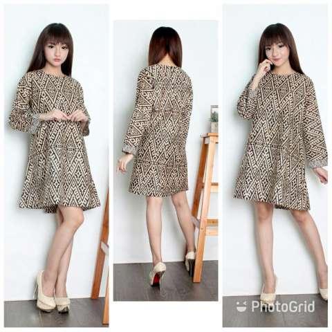 Cj collection Dress maxi pendek atasan blouse long tunik kemeja batik wanita jumbo shirt mini dress