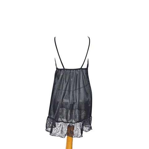 Clovis Fashion Baju Tidur Lingerie - HITAM TKJ