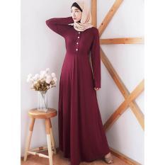 Maxi Dress Gamis Wanita  - MIYA UNIC RED - ANCIENSTORE -  / Baju Wanita / Blouse Korea / Atasan Wanita / Baju Formal / Kemeja Wanita / Kemeja Formal / Atasan Muslim / Kemeja Cewek Tunik