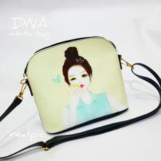 Cross Body & Shoulders Bags / Sling Bag / Tas Selempang Korean Style Cute Lady (Black)