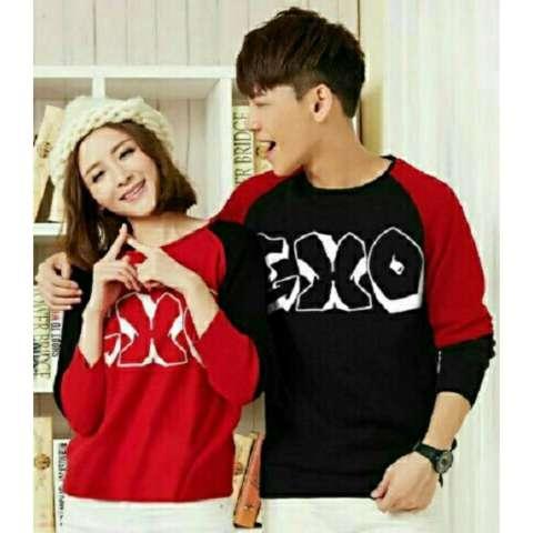 D'COUPLE Kaos Couple KIMONO EXO Merah Baju Pasangan Kaos Pasangan T-Shirt
