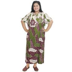 Daster Jumbo Lengan Pendek Batik, Baju Tidur Jumbo, Piyama Jumbo, Kerut , Daster Bumil - Busui (DPT003-62)