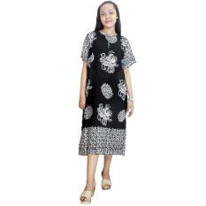 Daster Lengan Pendek Batik Cap Halus Pekalongan, Baju Tidur, Piyama, Leher Kerut (RDT001-12)