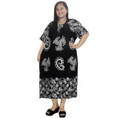 Daster Lengan Pendek Jumbo Batik Cap Halus Pekalongan, Baju Tidur, Piyama, leher Kerut (RDT003-17)