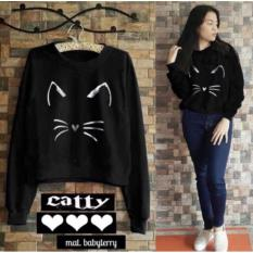 DaveCollection - Sweater Cattie the cat - Black