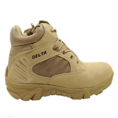 Delta Sepatu Army Tracking Shoes Tactical Pendek - Coklat