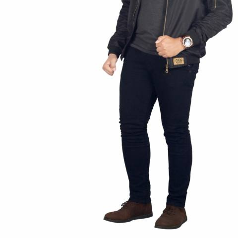Dgm_Fashion1 Celana Jeans Panjang Polos Hitam /Celana lepis/Celana Jeans Skinny Pria/Celana