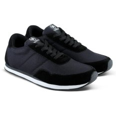 Distro Bandung VDB 094 Sepatu Sneaker bisa untuk Olahraga Lari dan Joging - Hitam