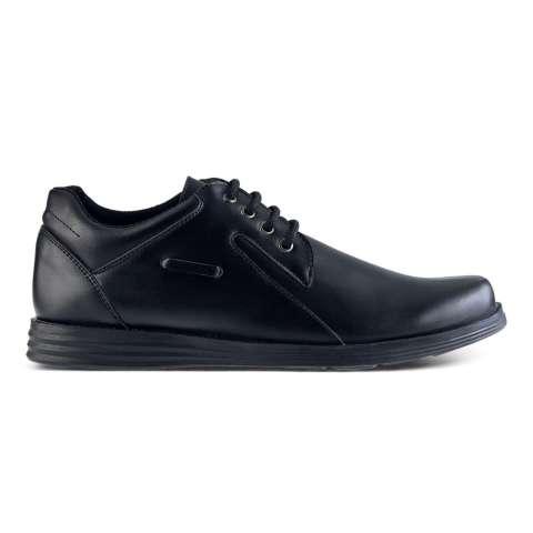 Distro DS 446 Sepatu Formal Pantofel Pria Untuk Kerja dan Kantor Kulit Sintetis - Hitam
