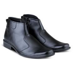 Sepatu VDB 464 Sepatu Formal Pantofel Boots Pria Untuk Kerja Kantor Kulit Sintetis - Hitam