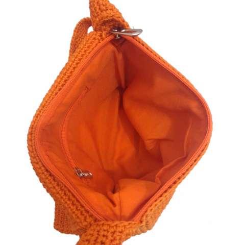Djogja Klasik Craft Tas Rajut Selempang Tutup Amplop - Orange