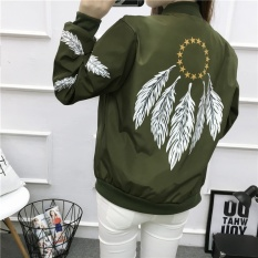 DM print feather pilot jacket - intl
