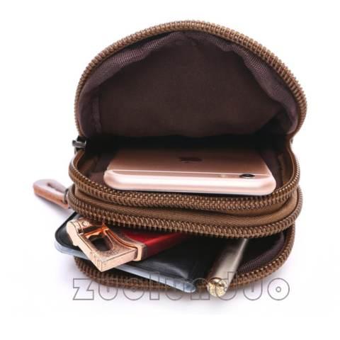 0e1cf99193 Dompet HP Kanvas Outdoor Dompet Pinggang Hp Kanvas Dompet Handphone Kanvas  Biru  Biru