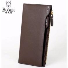 Dompet Kulit IMPOR Bogesi #837 Korean Style Elegan Pria Wanita Clutch Fashion Wallet - COKLAT