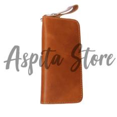 Dompet Kulit Lipat Panjang Asli Garut Premium Wanita Pria - Aspita Store