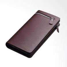 Dompet Panjang Pria Model Resleting - Coklat