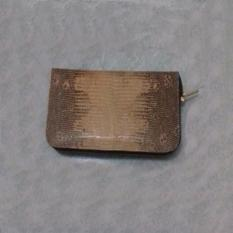 Dompet Pria bahan Kulit Biawak Asli singgle zipper