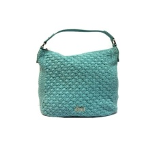 Dowa Malaysia Drive Hobo Crochet Leather Handbag (Pale Aqua)