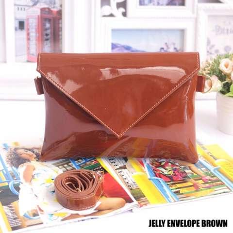 EL PIAZA Jelly Envelope Women Clutch Bag - Sling Bag Tas Genggam ToteBag Lucu Tas Jalan
